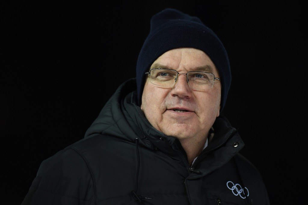 IOC President Thomas Bach, pictured attending the FIS Nordic World Ski Championships in Lahti, is thought to support the joint awarding of the 2024 and 2028 Olympics ©Getty Images