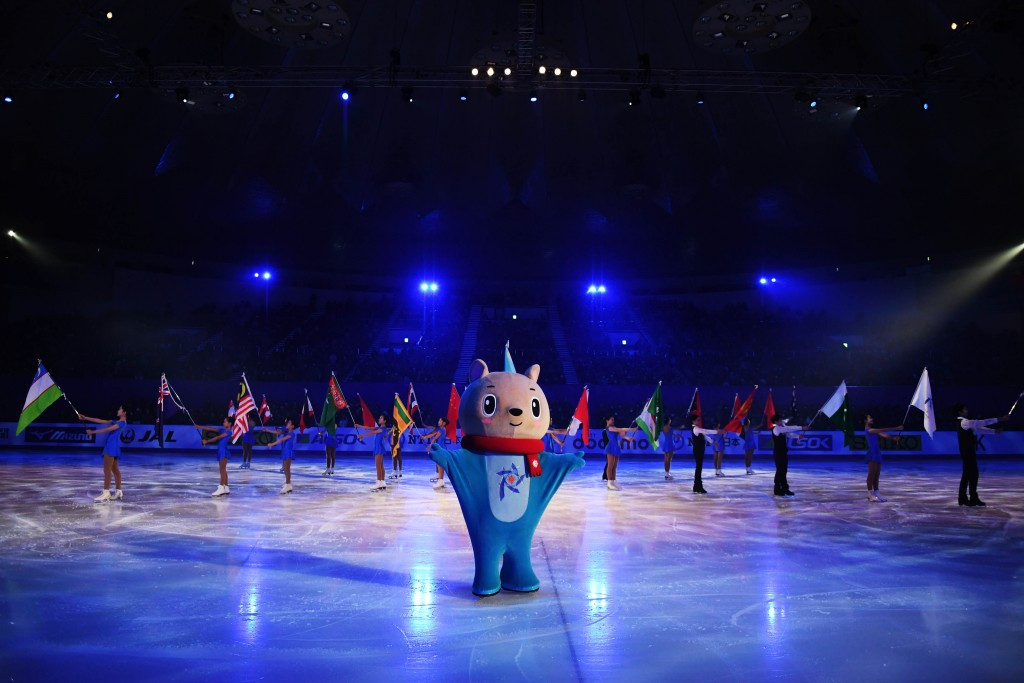 The first part of the Opening Ceremony took place on ice ©Getty Images