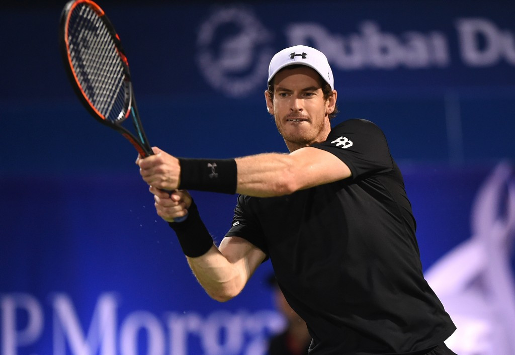 Great Britain's Sir Andy Murray overcame Spain's Fernando Verdasco in straight sets today win the Dubai Tennis Championships title for the first time ©Getty Images