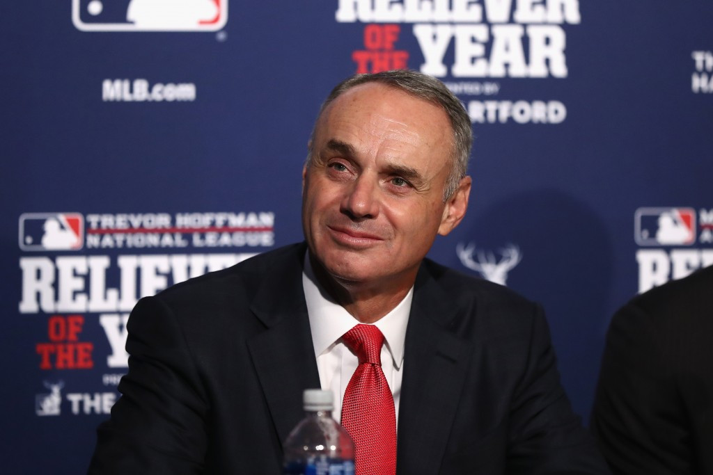 Major League Baseball Commissioner Rob Manfred has raised doubts over whether its players will compete at the Tokyo 2020 Olympic Games ©Getty Images