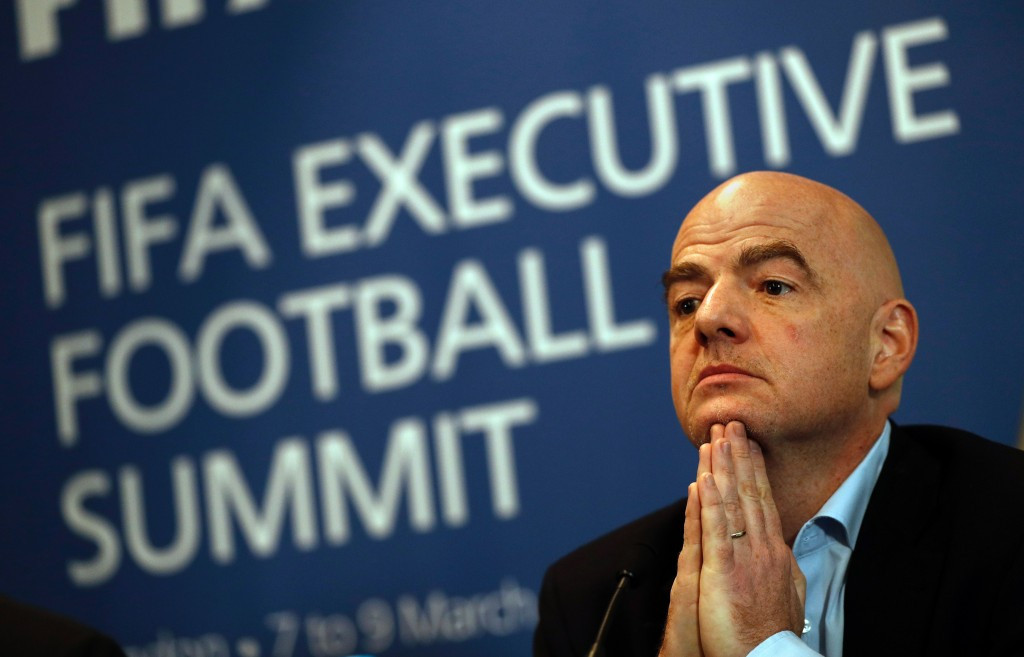 FIFA President Gianni Infantino has warned nations interesting in bidding for future editions of the World Cup must allow any team who qualifies and their supporters access to the country for the tournament ©Getty Images