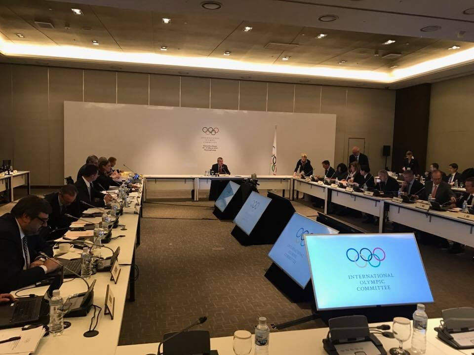 The IOC declaration was debated at length this morning during the Executive Board meeting ©ITG