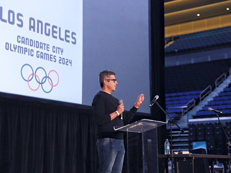 Casey Wasserman is refusing to back down in a battle with Paris to host the 2024 Olympic and Paralympic Games ©Los Angeles 2024