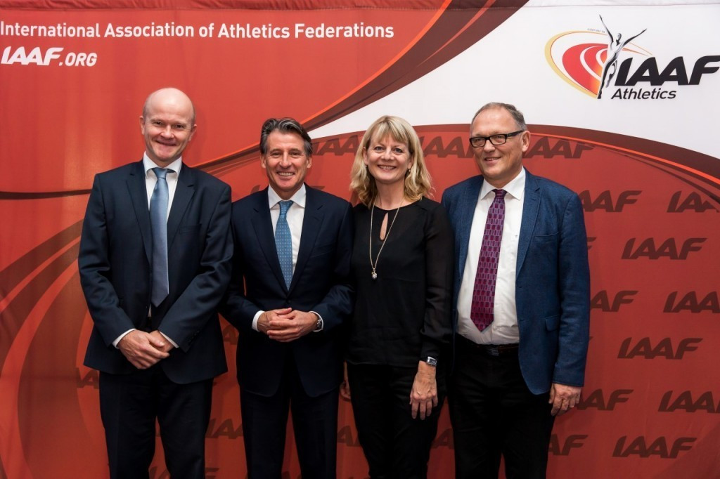 The successful Aarhus 2019 bid team, pictured with IAAF President Seb Coe in December, has plans to help project cross country back into the Olympics @IAAF