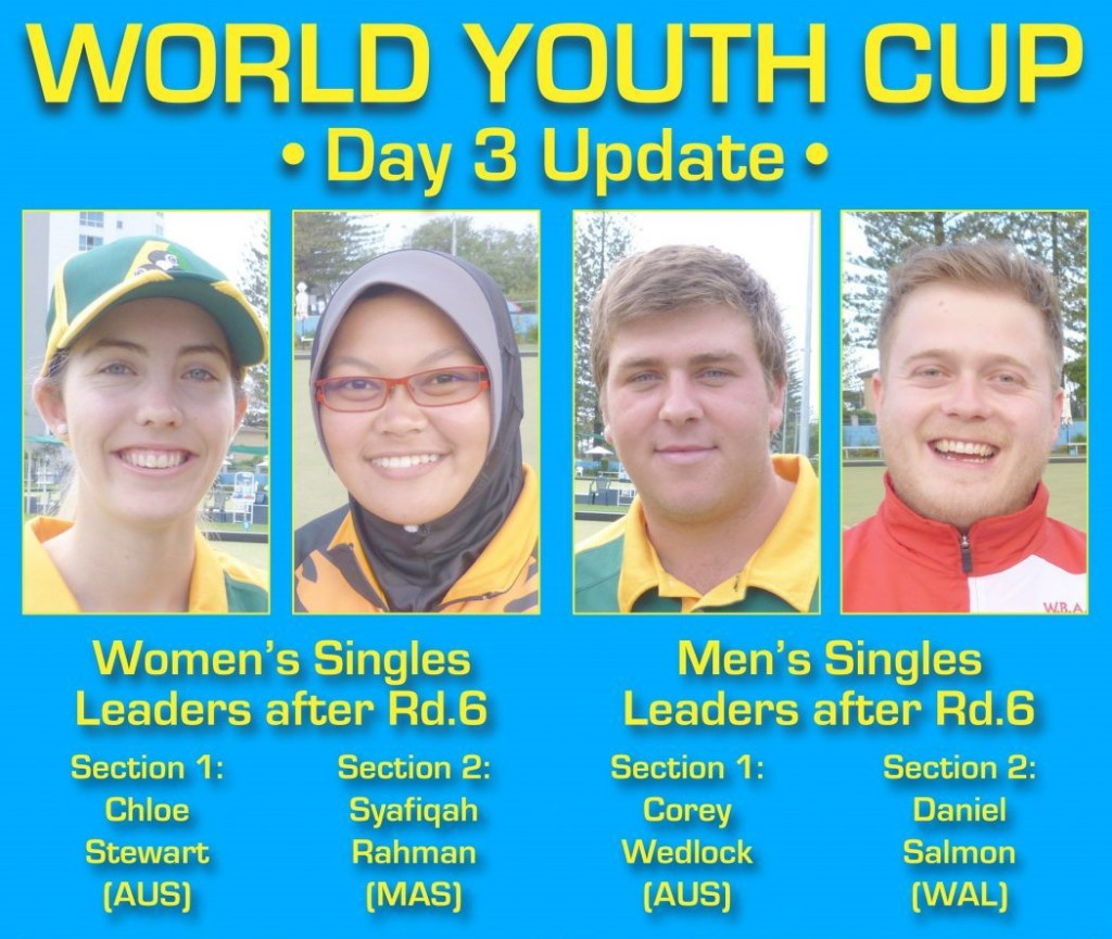 Six rounds of matches have taken place in the men's and women's singles events at the World Youth Bowls Championships ©World Bowls