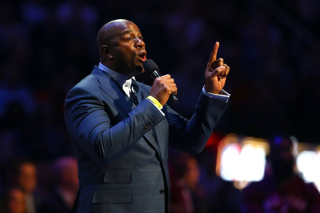 """Basketball legend Earvin """"Magic"""" Johnson is among the several owners and executives from American sports teams to have joined Los Angeles 2024's Board of Directors ©Getty Images"""