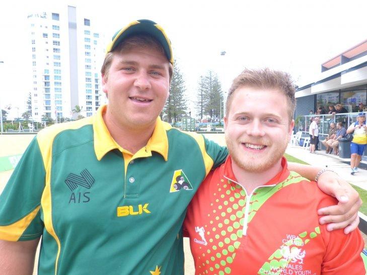 Wales' Daniel Salmon, right, beat Australia's Corey Wedlock, left, in the men's final ©World Bowls
