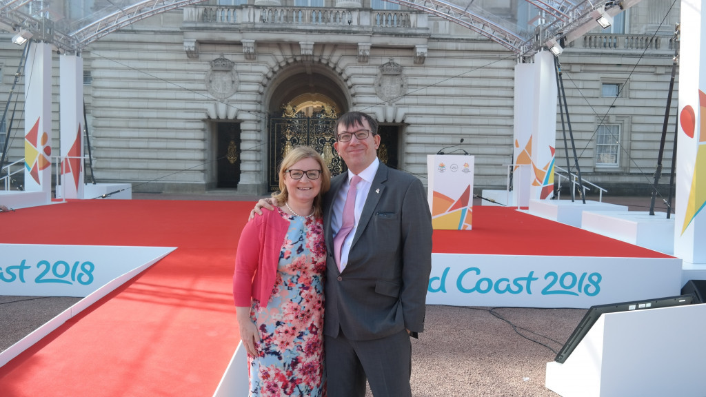 insidethegames.biz owners among the specially invited guests at Buckingham Palace for the start of the Queen's Baton Relay