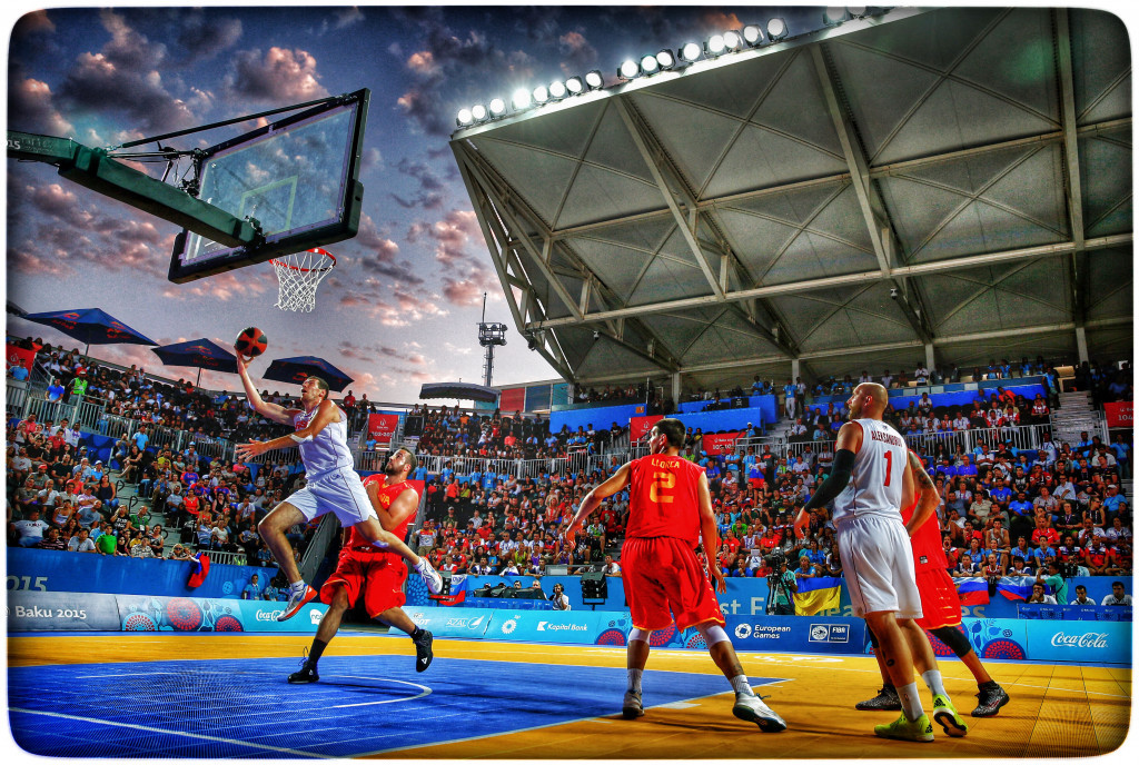 Basketball 3x3, pictured taking place at the Baku 2015 European Games, is one of the favoured new disciplines ©Getty Images