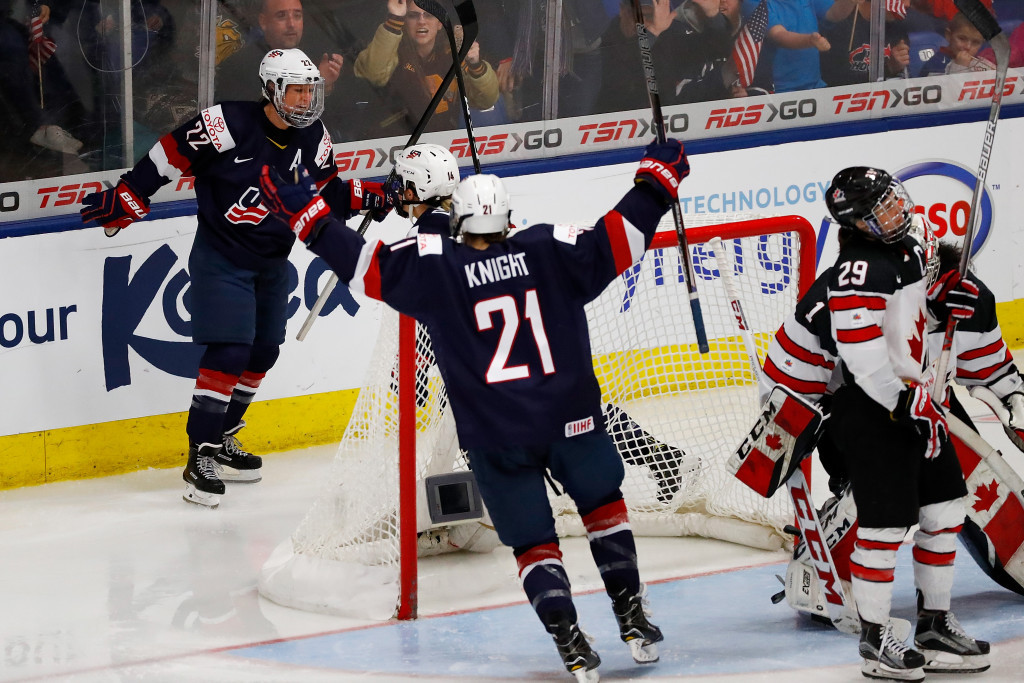 The United States beat Canada with an overtime strike ©Getty Images