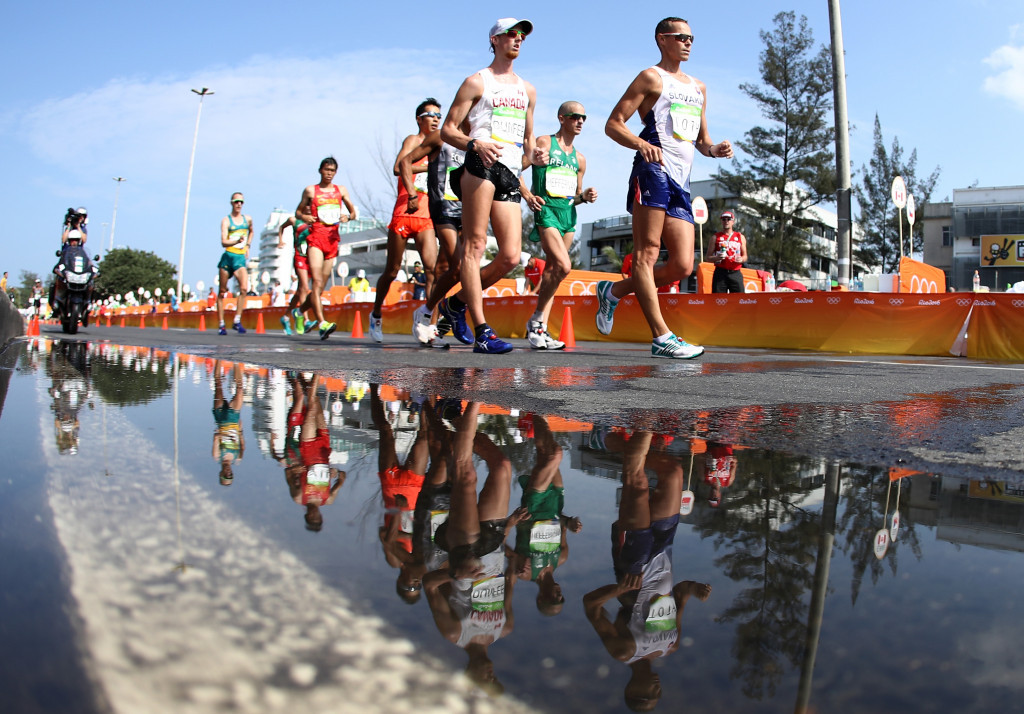 Concerns are rising that the 50km race walk may be dropped from the Olympic programme ©Getty Images