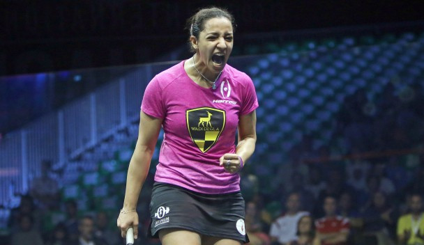 Third seed Raneem El Welily sealed her spot in the semi-finals with victory over Laura Massaro ©PSA