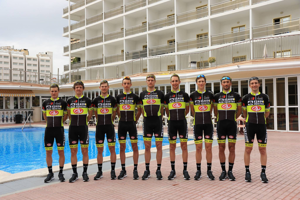 The Elkov-Author cycling team, whose riders are pictured, now face a possible suspension imposed by the International Cycling Union ©Elkov-Author Professional Cycling Team/Facebook