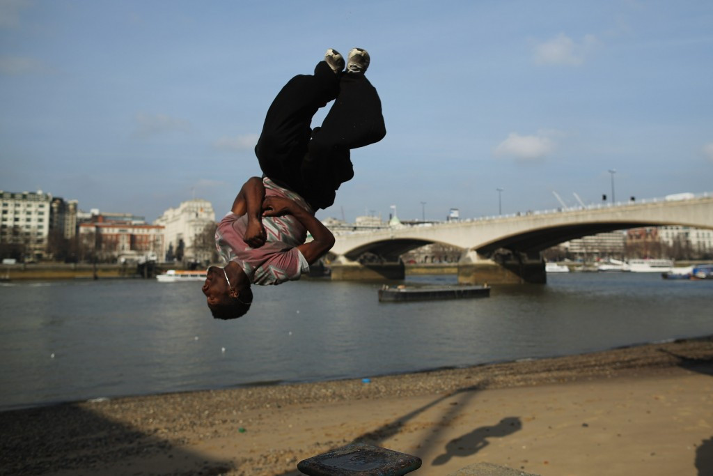 Parkour is a training discipline using movement developed from military obstacle course training ©Getty Images