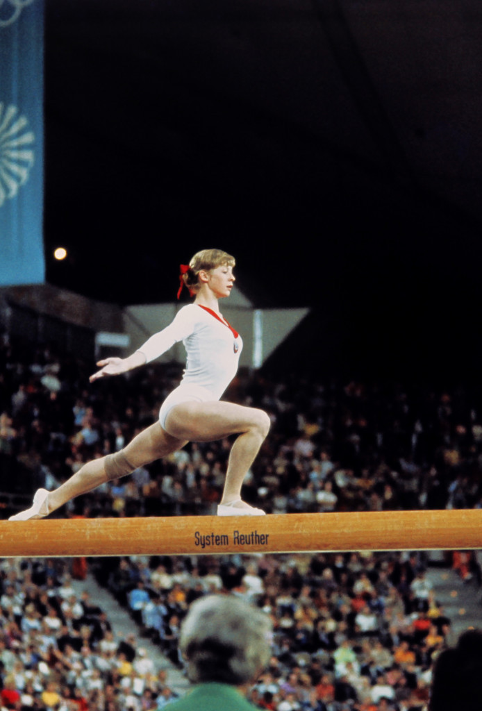 Olga Korbut's Olympic debut at the 1972 Munich Games earned her gymnastic gold medals for the beam, floor exercise and team competition ©Getty Images