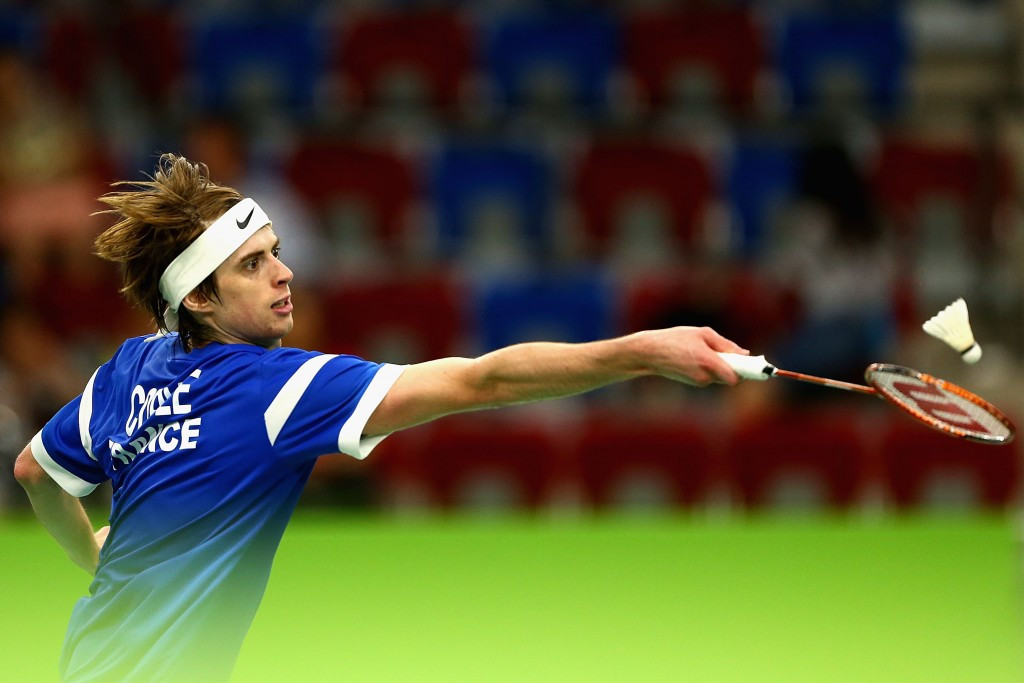 France's Lucas Corvée is through to the second round of the men's singles event at the European Badminton Championships ©Getty Images