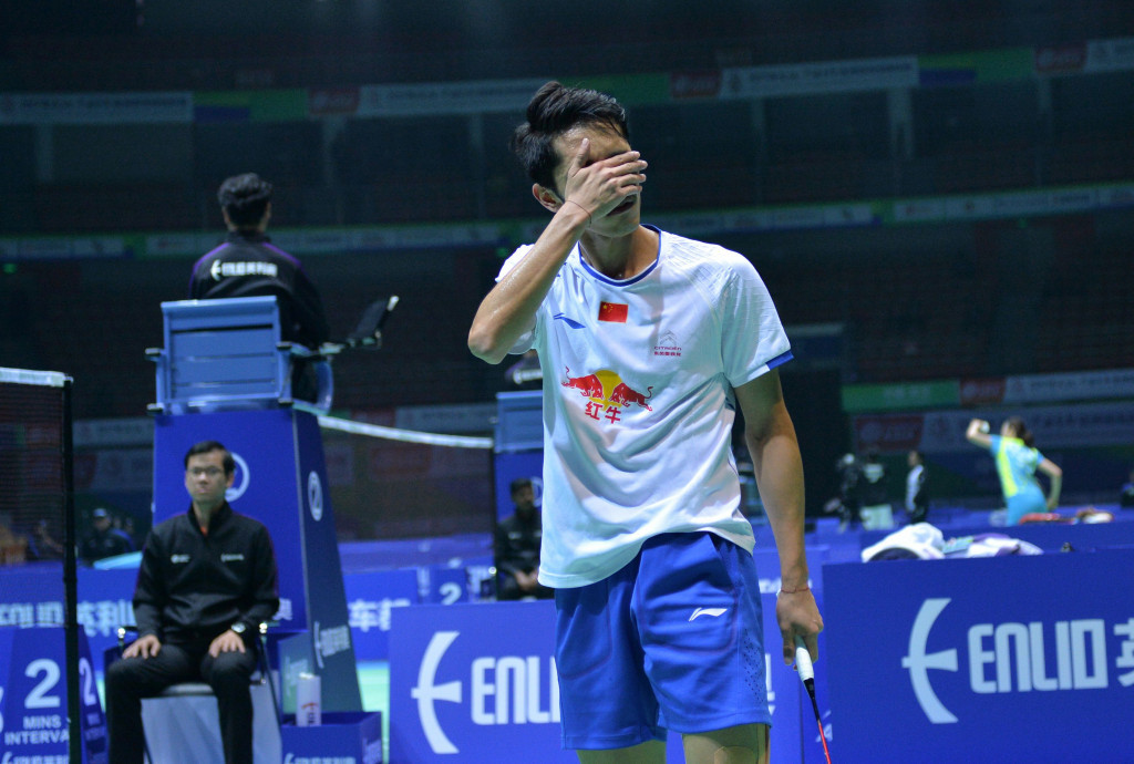 China's Tian Houwei has been knocked out of the Badminton Asia Championships at the first-round stage ©Getty Images