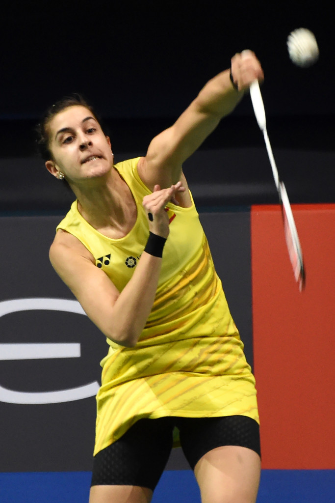 Women's singles top seed Carolina Marin is through to round three of the European Badminton Championships ©Getty Images
