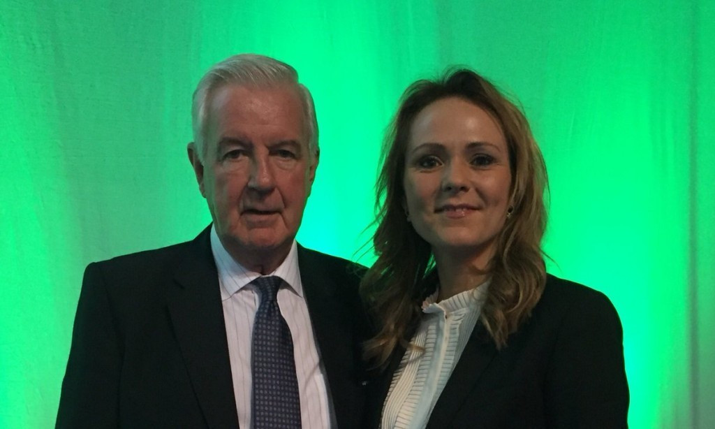 Linda Helleland, right, is also bidding to replace Sir Craig Reedie, left, next year ©WADA