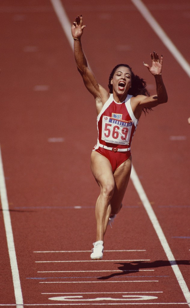 There are widespread suspicions about the performances of America's Florence Griffith Joyner, who set world records in the 100 and 200 metres in 1988, but no documentary evidence to prove anything ©Getty Images