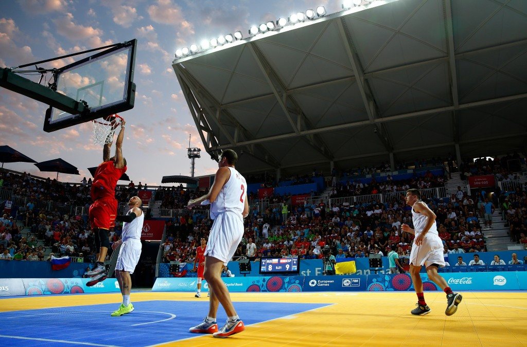 Basketball 3x3 is strong contender for Tokyo 2020 after featuring at the 2015 European Games ©Getty Images