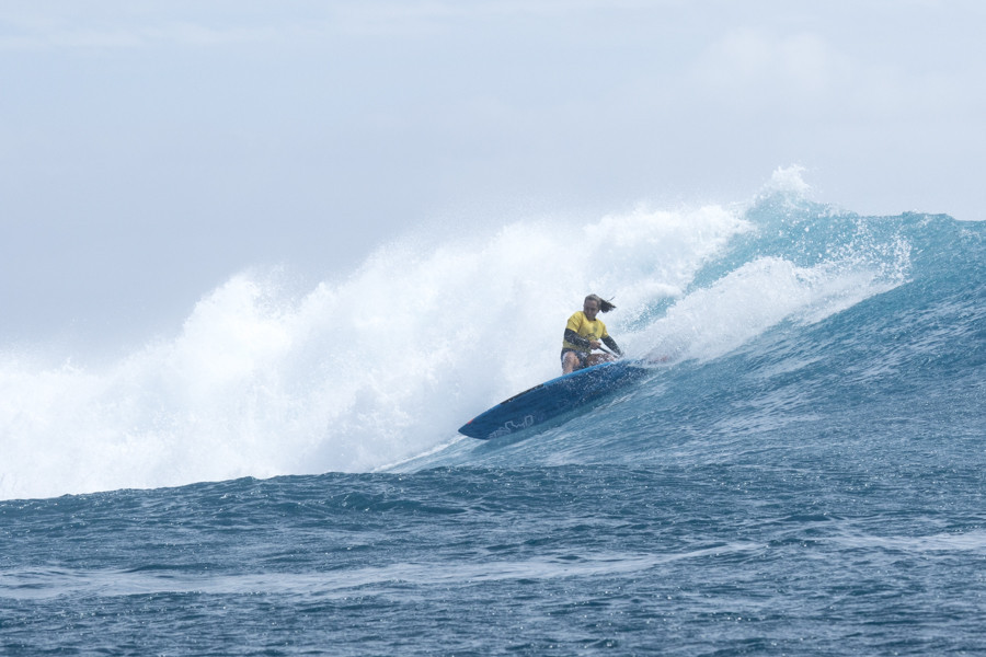 Australian stand up paddleboarder Shakira Westdorp pictured competing ©ISA/Ben Reed