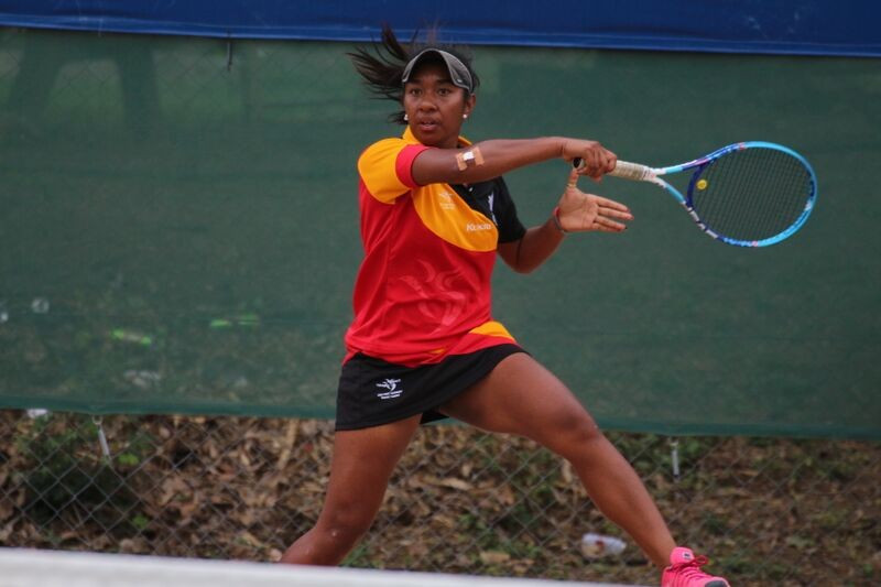 Papua New Guinea were able to seal women's doubles gold on the last day of tennis at Port Moresby 2015