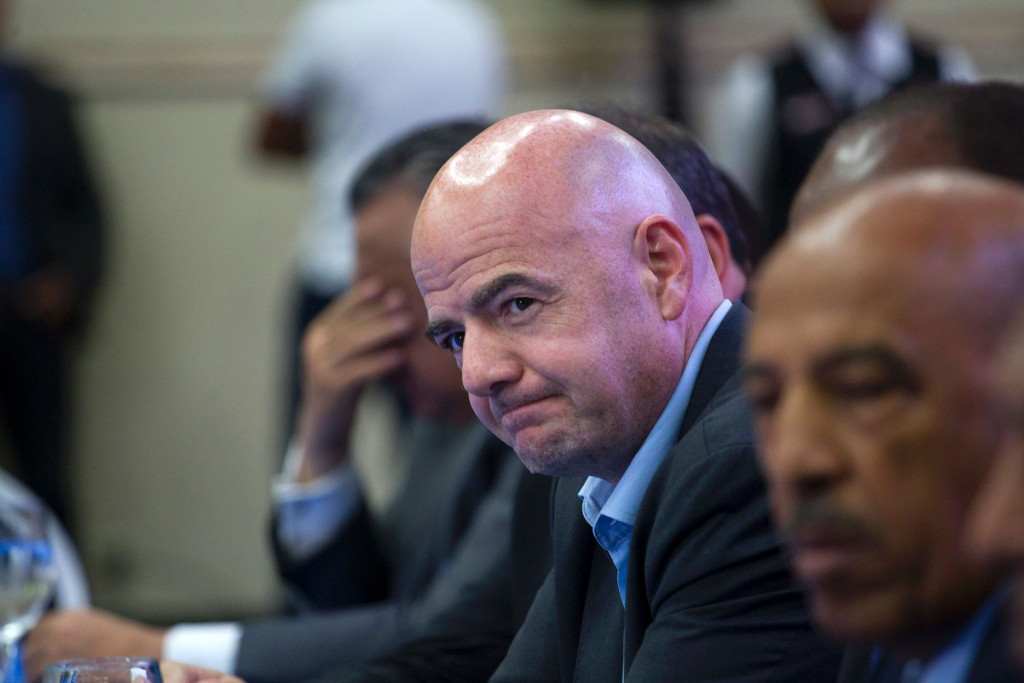 FIFA President Gianni Infantino defended the organisation's financial position ©Getty Images