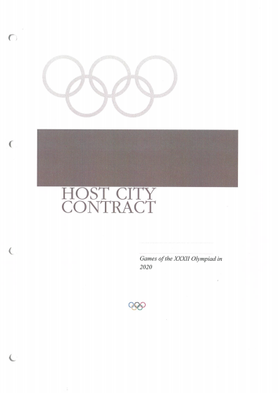 This Host City Contract was first signed on September 7, 2013 ©Tokyo 2020