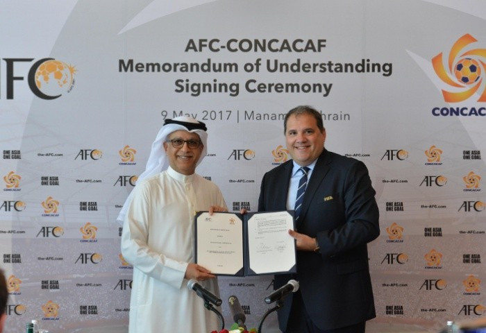 The AFC and CONCACAF have signed an MoU today ©AFC