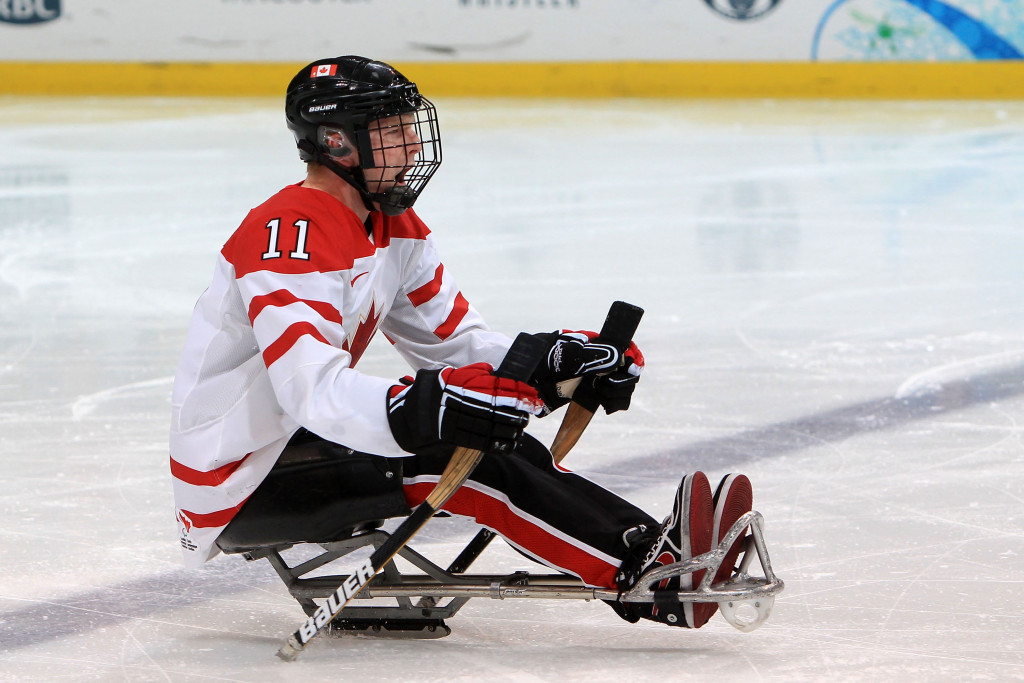 Canadian ice hockey player Adam Dixon finished second in the public voting ©Getty Images