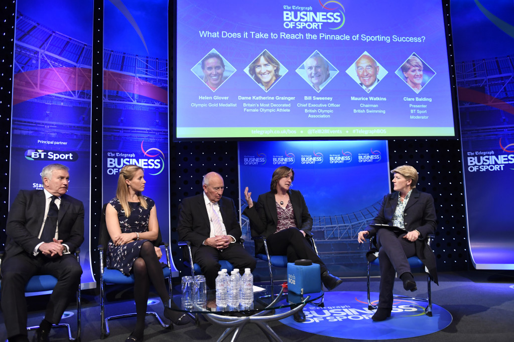 Bill Sweeney, left, was speaking at the Telegraph Business of Sport conference ©Telegraph Business of Sport