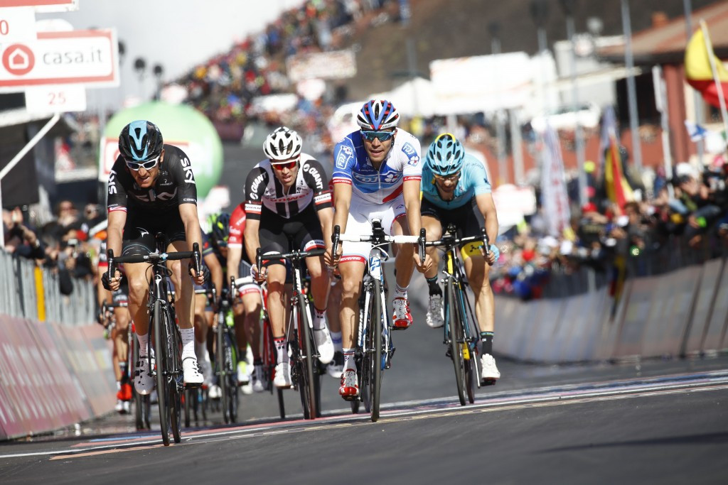 Team Sky's Geraint Thomas, left, moved into second place overall ©Getty Images