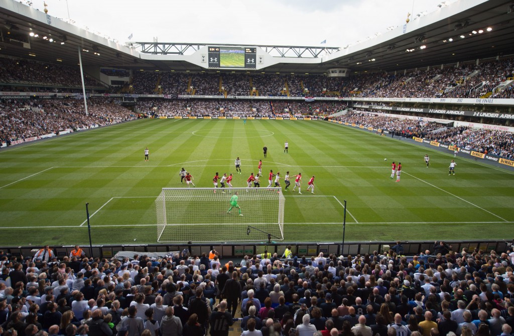 White Hart Lane bowed out yesterday as Tottenham beat Manchester United 2-1 in the Premier League ©Getty Images