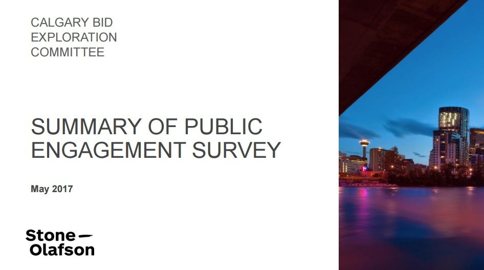 The survey revealed nearly two thirds of the 1,949 respondents were in favour of the city's potential bid for the 2026 Winter Olympic Games ©CBEC