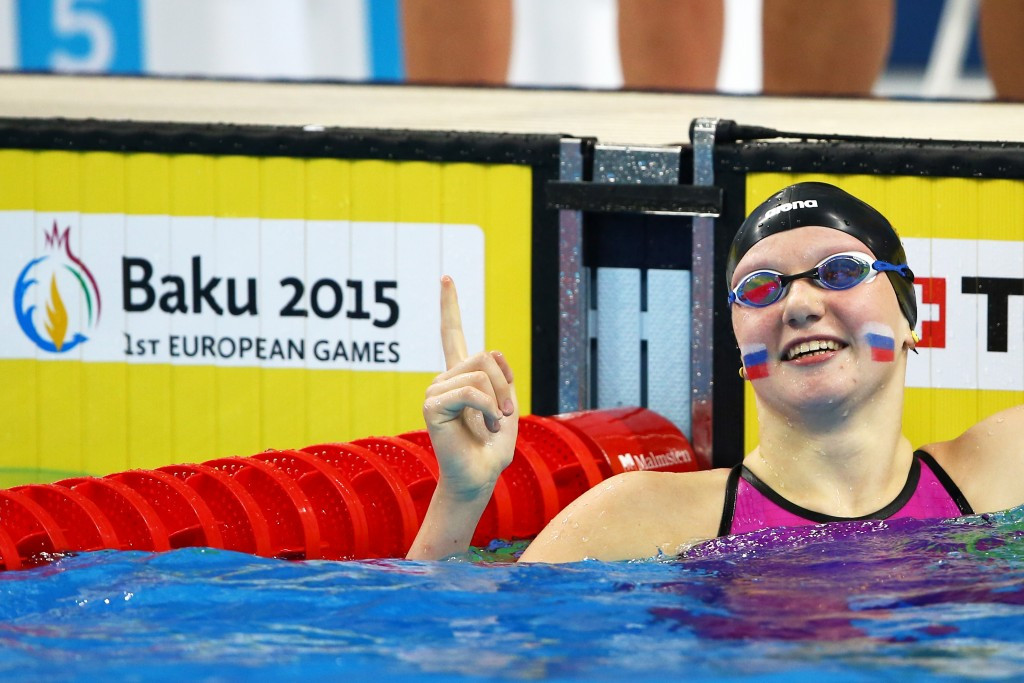 Junior level aquatics featured at Baku 2015, but the sport will not be present in Minsk ©Getty Images