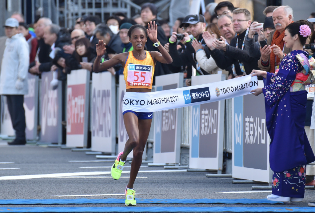Tokyo Marathon winner Sarah Chepchirchir is among those reportedly suspended ©Getty Images