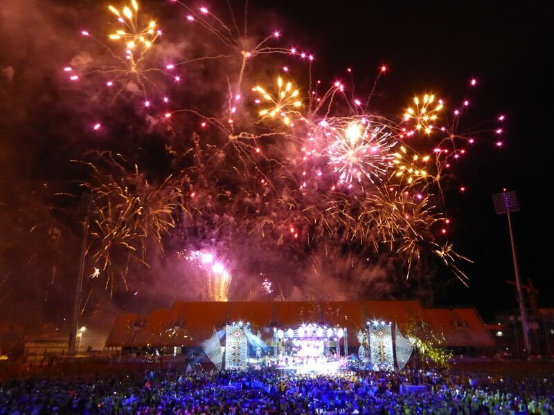 A spectacular fireworks display concluded the Closing Ceremony in style
