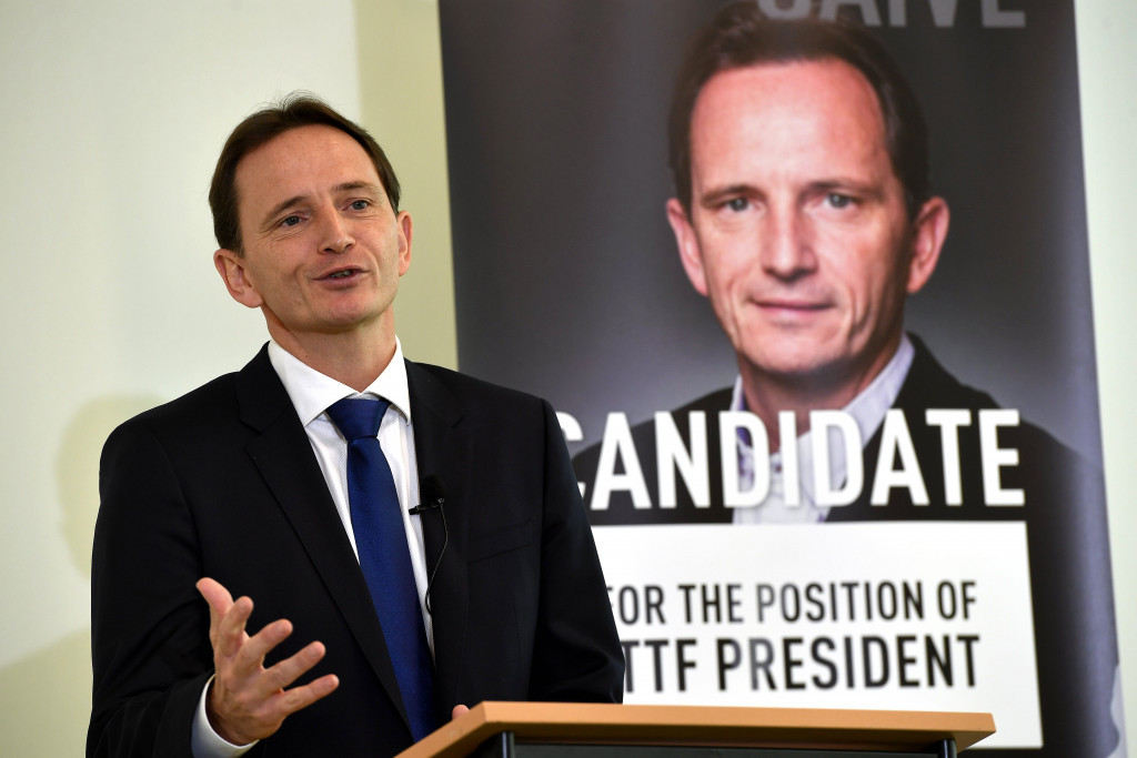 Jean-Michel Saive claims he has wide-ranging support for his ITTF Presidential bid ©Getty Images
