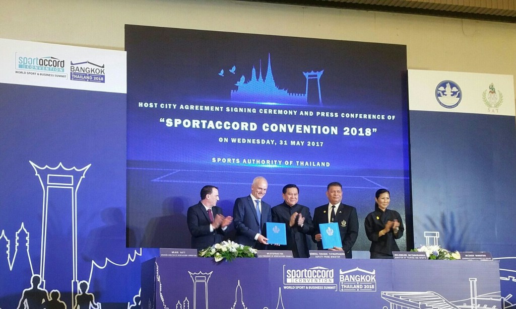 Bangkok officially confirmed as 2018 SportAccord Convention host at signing ceremony