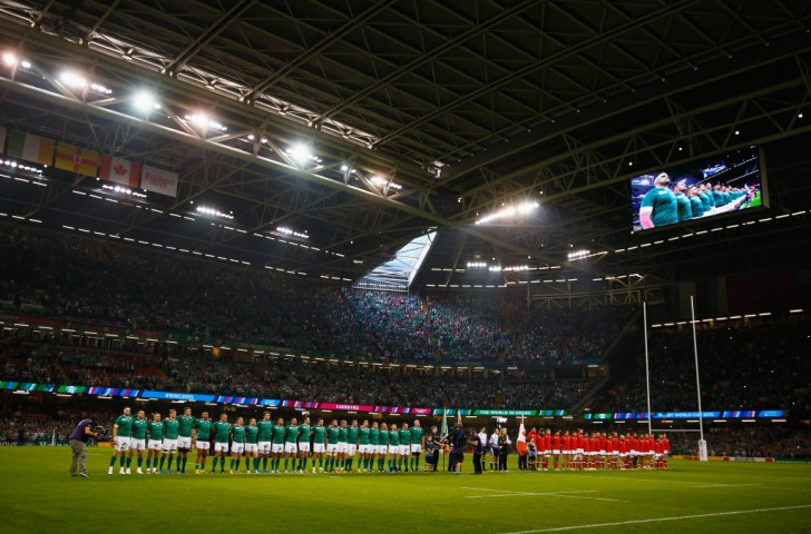 Ireland and Canada line up for a match the 2015 Rugby World Cup at the National Stadium in Cardiff, where on Saturday Juventus and Real Madrid will take over for the UEFA Champions League final ©Getty Images