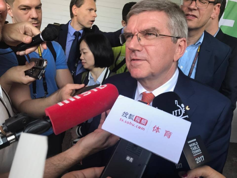 """Thomas Bach insists no decision has yet been made on 2024 and 2028 but promised the IOC members will have a """"vote"""" on the final choice ©ITG"""