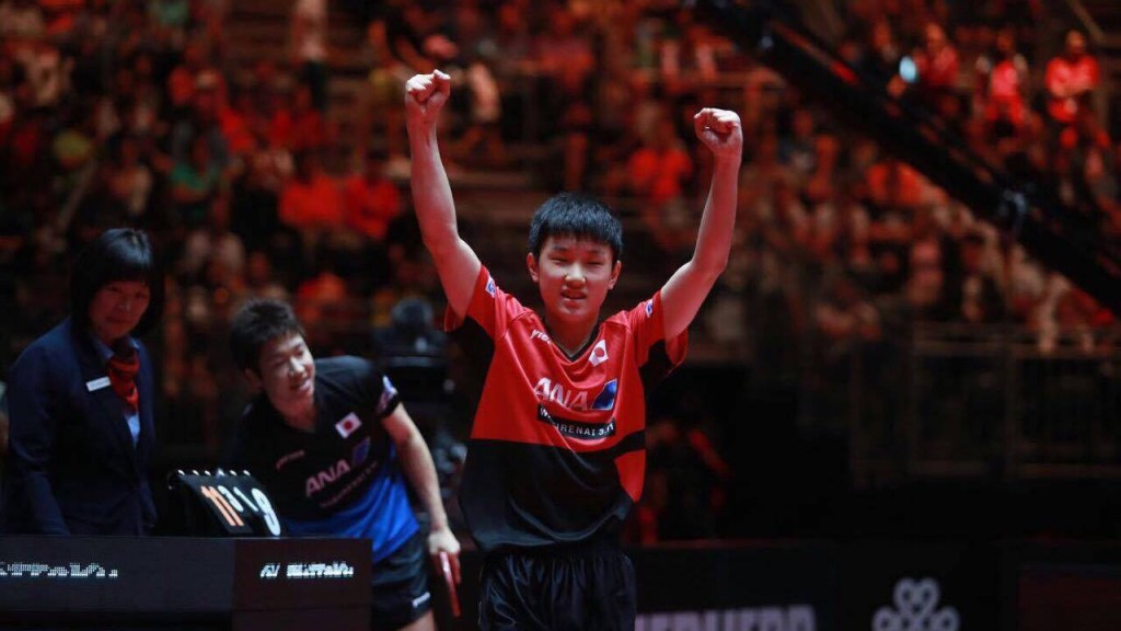 Teenager stuns Olympic bronze medallist at World Table Tennis Championships