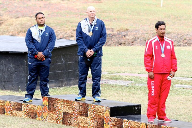 Glen Kable's shooting gold was one of 33 titles won by Fiji during the Pacific Games