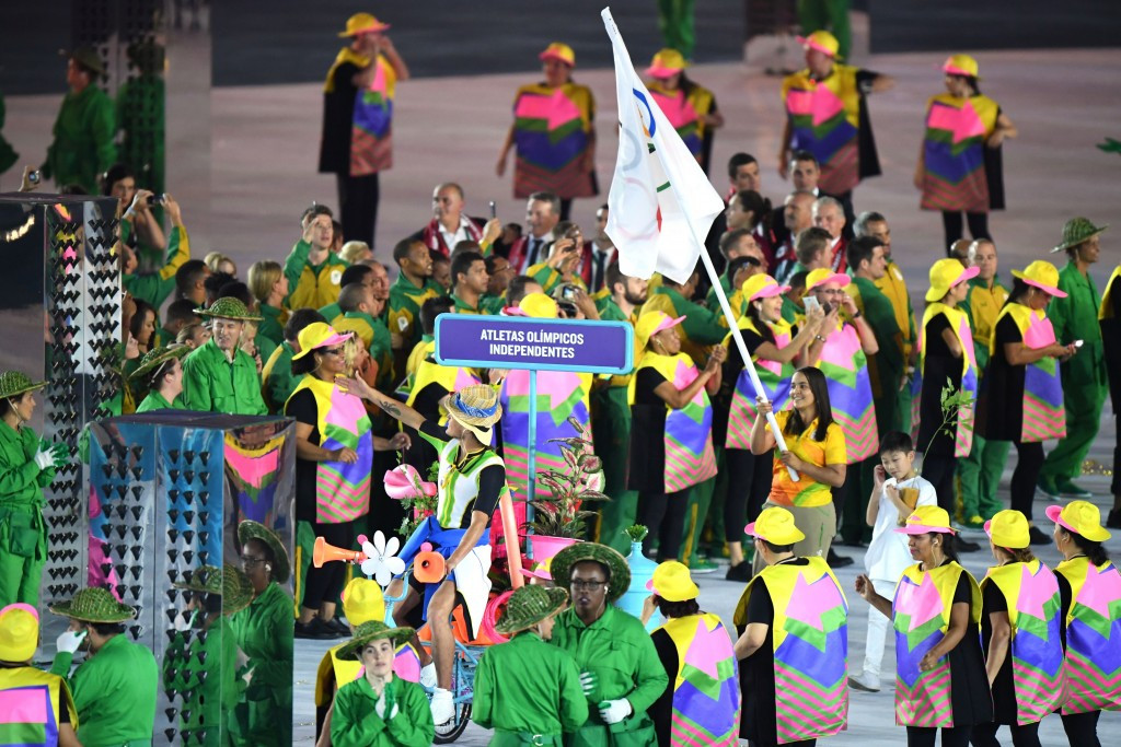 Kuwait's athletes had to compete independently at Rio 2016 but Russians were able to part under their own flag ©Getty Images