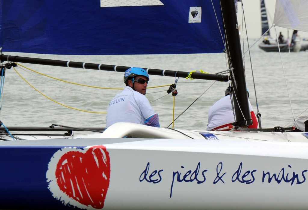 Seguin moves into overall lead as only one race held at Para World Sailing Championships