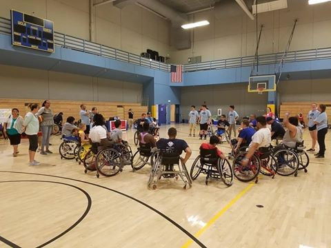 Wheelchair basketball was one Paralympic sport offering clinics and competitions ©Angel City Games