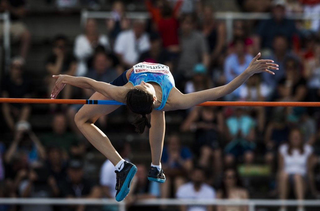 Mariya Lasitskene, Russia's world high jump champion, competing as a neutral in Stockholm ©Getty Images