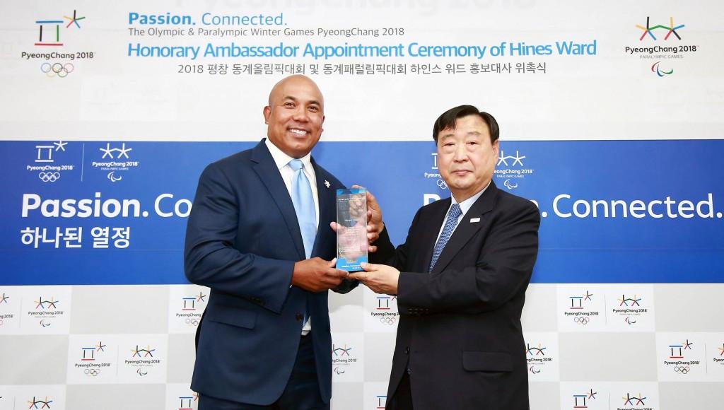 American football player Hines Ward has been named as a Pyeongchang 2018 ambassador ©Pyeongchang 2018