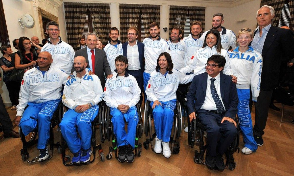 The Italian wheelchair fencing team were also in attendance ©IWAS
